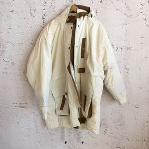 EAST WEST WHITE  WINTER JACKET 3X